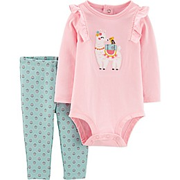 carter's® 2-Piece Llama Bodysuit and Pant Set in Pink