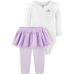 carter's® 2-Piece Unicorn Bodysuit and Tutu Pant Set in White