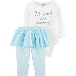 carter's® 2-Piece Magical Bodysuit and Tutu Pant Set in White/Blue