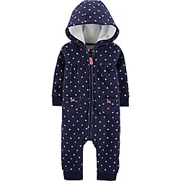 carter's® Heart Coverall in Navy
