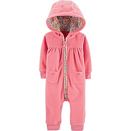 carter's® Bear Hooded Coverall in Pink