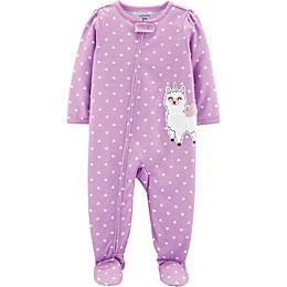 carter's® Dot Llamacorn Toddler Footie in Purple