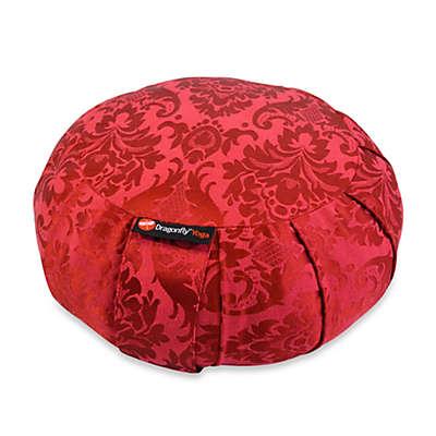 Dragonfly™ Yoga Round Silk Zafu in Red