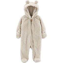 carter's® Newborn Sherpa Hooded Pram in Beige
