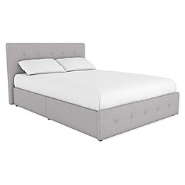 EveryRoom Ryder Linen Upholstered Bed Frame with Storage