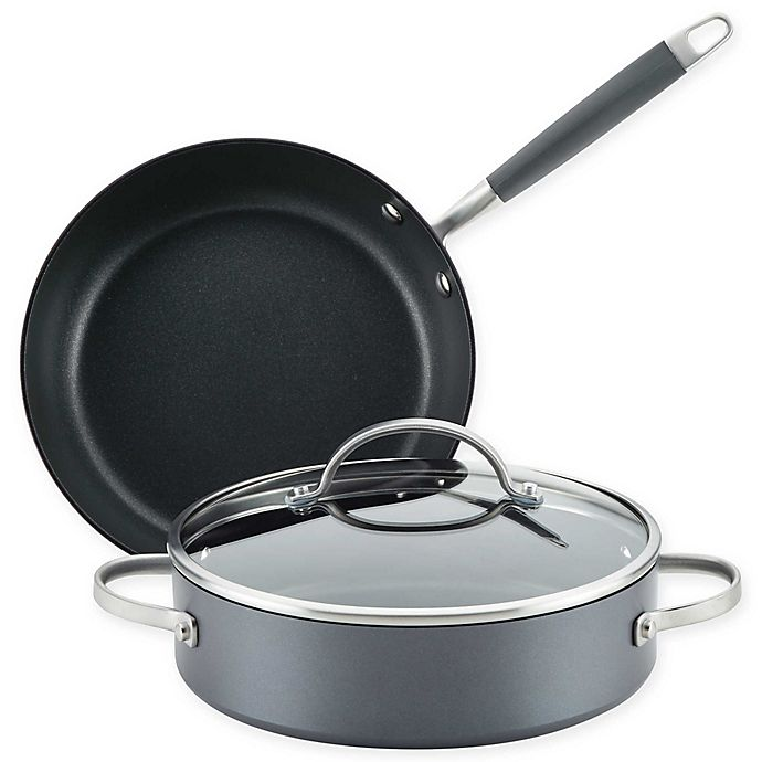Alternate image 1 for Anolon® Advanced™ Home Hard-Anodized Nonstick 3-Piece Cookware Set