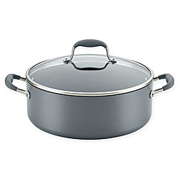 Anolon® Advanced™ Home Hard-Anodized Nonstick 7.5 qt. Covered Wide Stockpot