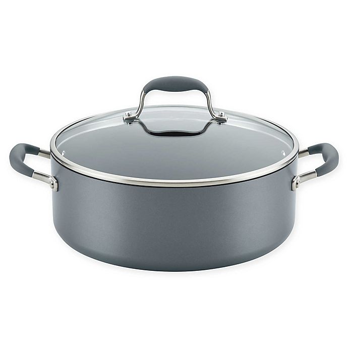 Alternate image 1 for Anolon® Advanced™ Home Hard-Anodized Nonstick 7.5 qt. Covered Wide Stockpot