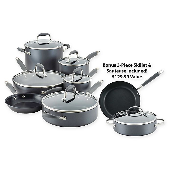 Alternate image 1 for Anolon® Advanced™ Home Hard-Anodized Nonstick 11-Piece Cookware Set and Bonus Bundle