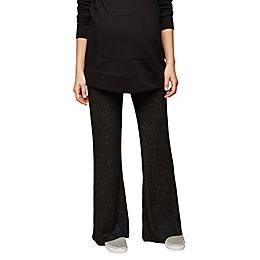 Motherhood Maternity® Secret Fit Belly Knit Wide-Leg Maternity Pant in Black/Grey