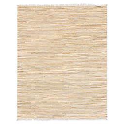 Unique Loom Chindi Stripe 8' x 10' Braided Area Rug in Beige