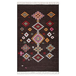 nuLOOM® Aztec-Inspired Nakish Hand Loomed Area Rug in Brown/Multi