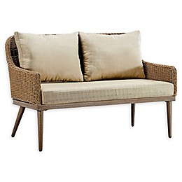 Madison Park Venice Outdoor Patio Loveseat in Natural