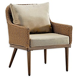 Madison Park Venice Outdoor Patio Lounge Chair in Natural