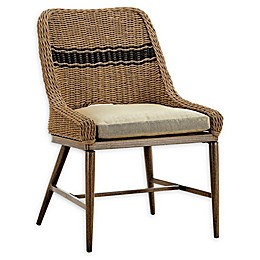 Madison Park Venice Outdoor Patio Dining Chair in Natural (Set of 2)