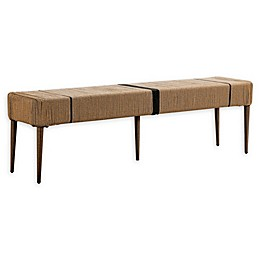 Madison Park Venice Outdoor Patio Dining Bench in Natural