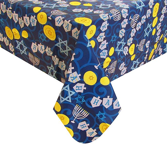 Alternate image 1 for Hanukkah Vinyl Table Covering Collection