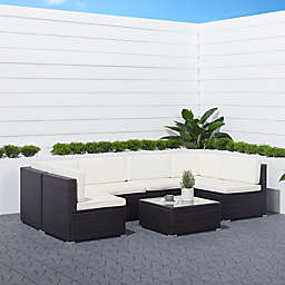 Vifah Vernice 6-Piece Wicker Outdoor Conversation Set
