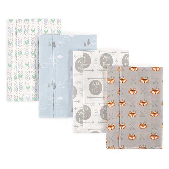 Alternate image 1 for Luvable Friends® 4-Pack Wild and Free Burp Cloths