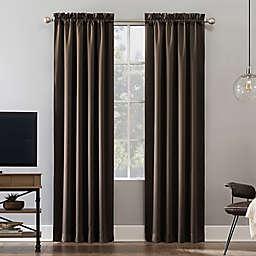 Sun Zero® Oslo 84-Inch Rod Pocket 100% Blackout Window Curtain Panel in Cocoa (Single)