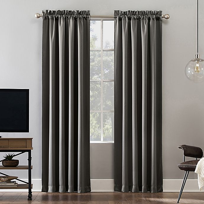 Alternate image 1 for Sun Zero® Oslo Rod Pocket 100% Blackout Window Curtain Panel
