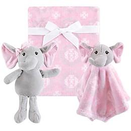 Hudson Baby® 3-Piece Elephant Blanket Gift Set in Pink