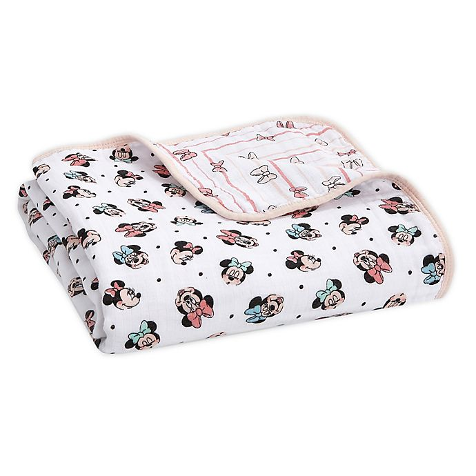 Alternate image 1 for aden + anais™ essentials Disney® Minnie Mouse Blanket in Pink