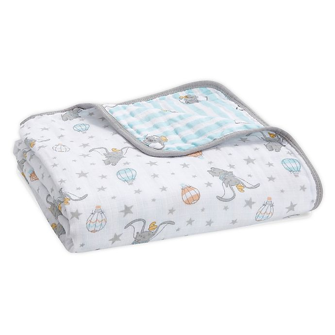 Alternate image 1 for aden + anais® Essentials Dumbo Quilt in Grey