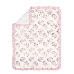 The Peanutshell™ Grace Floral  Blanket in Pink