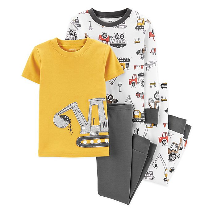Alternate image 1 for carter's® 4-Piece Construction Pajama Set in Yellow