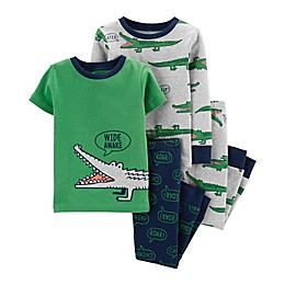 carter's® 4-Piece Gator Pajama Top and Pant Set in Green