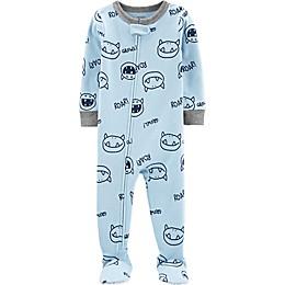carter's® Monsters Toddler Footie in Light Blue