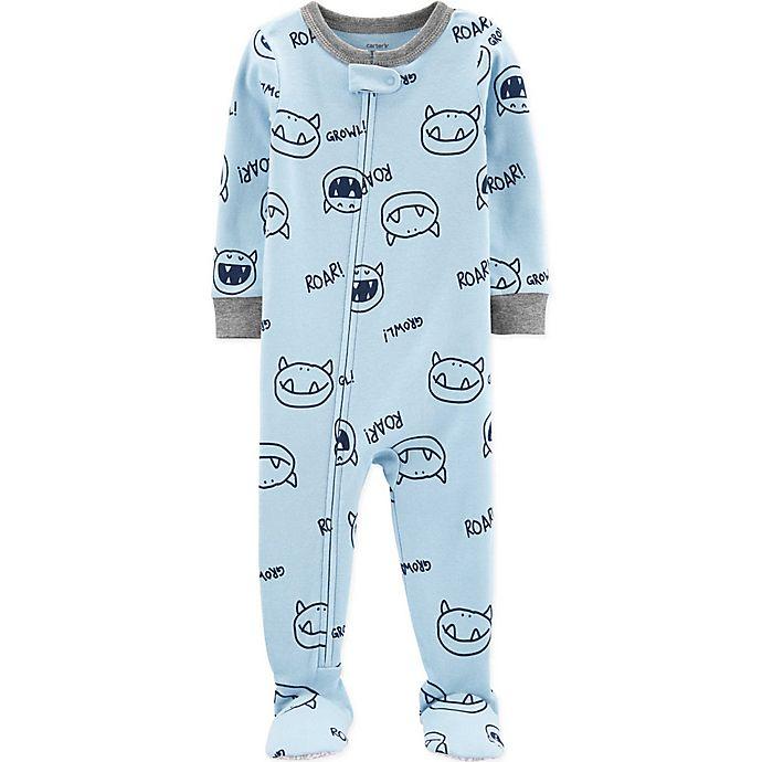 Alternate image 1 for carter's® Monsters Toddler Footie in Light Blue