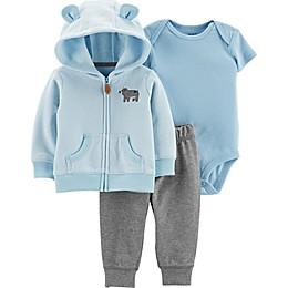 carter's® 3-Piece Bear Bodysuit, Cardigan, and Pant Set in Blue