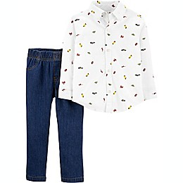 carter's® 2-Piece Car Long Sleeve Top and Pant Set