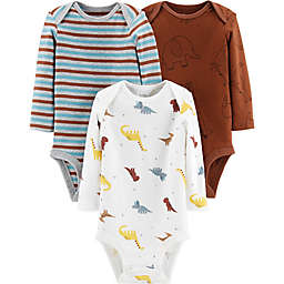 Little Planet™ Organic by cater's® 3-Pack Dino Organic Cotton Bodysuits