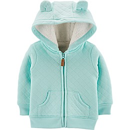 carter's® Hooded Sherpa Cardigan in Blue