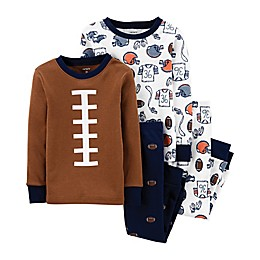 carter's® 4-Piece Football Helmets Pajama Top and Pant Set