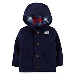 carter's® Button-Front Hooded Jacket in Navy