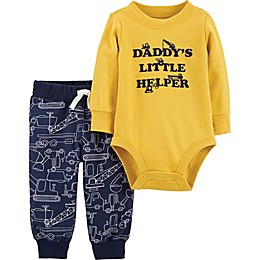 "carter's® 2-Piece ""Daddy's Little Helper"" Bodysuit and Pant Set"