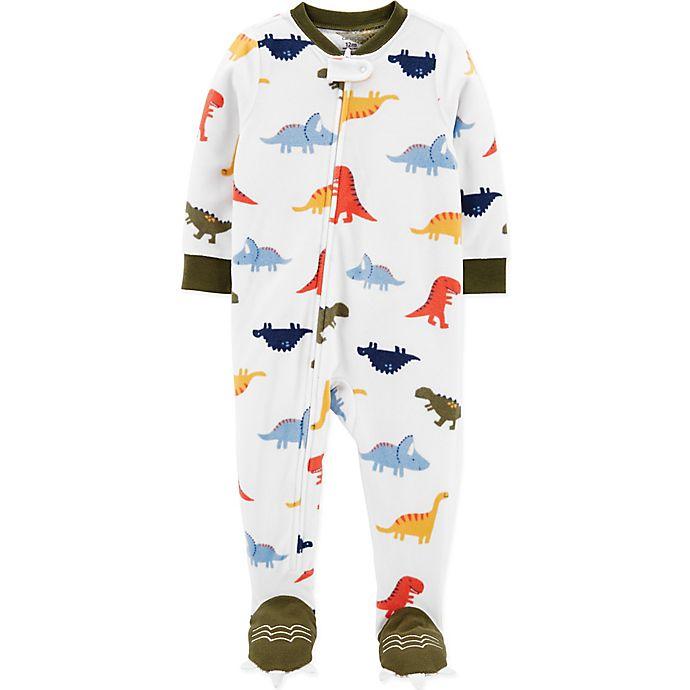 Alternate image 1 for carter's® Dino Feet Toddler Footie