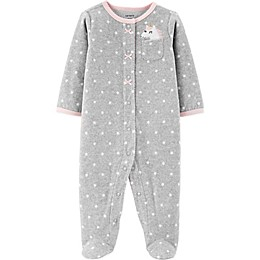 carter's® Unicorn Dot Footie in Grey