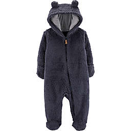 carter's® Sherpa Hooded Pram in Navy