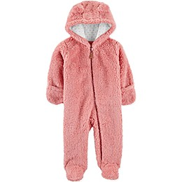 carter's® Sherpa Hooded Pram in Pink