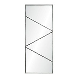 Ren-Wil Ary 19-Inch x 46-Inch Rectangular Mirror in Brushed Silver