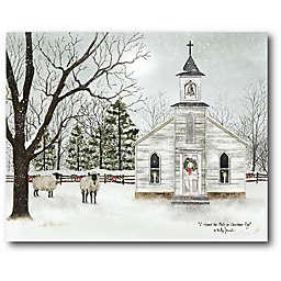 Courtside Market  Christmas Chapel 30-Inch x 40-Inch Canvas Wall Art