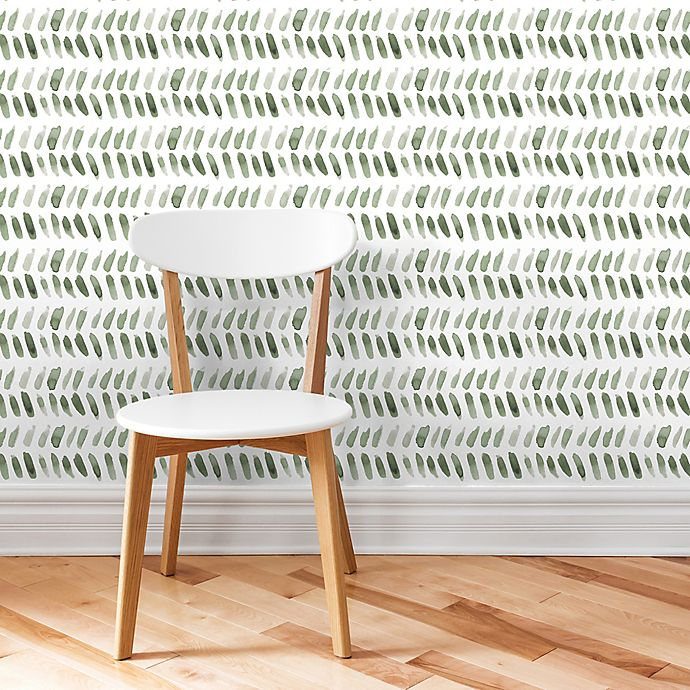 Marmalade Leaves Peel Stick Vinyl Wallpaper In Green