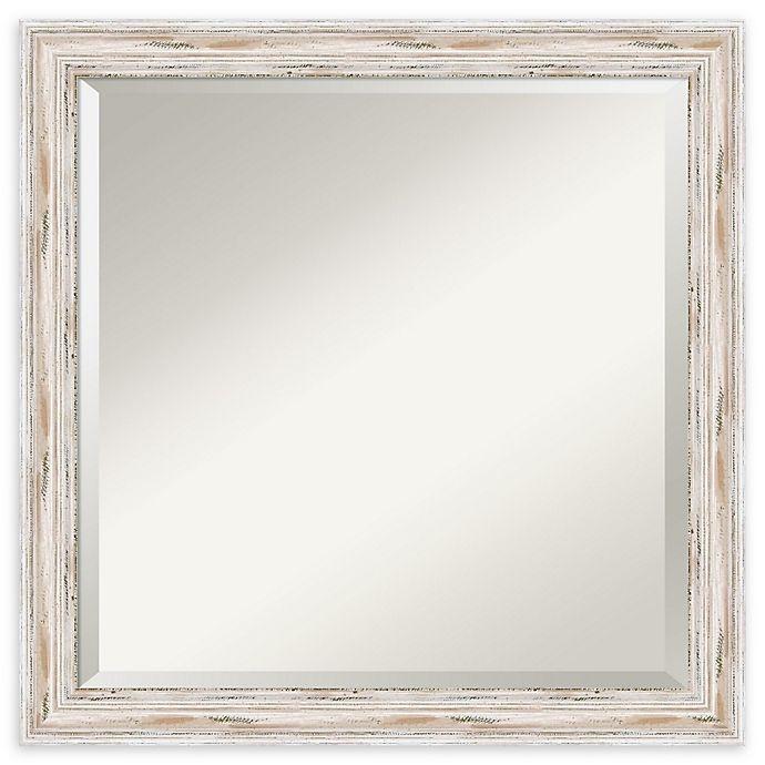 Alternate image 1 for Amanti Art Alexandria White Wash 23-Inch Square Bathroom Vanity Mirror