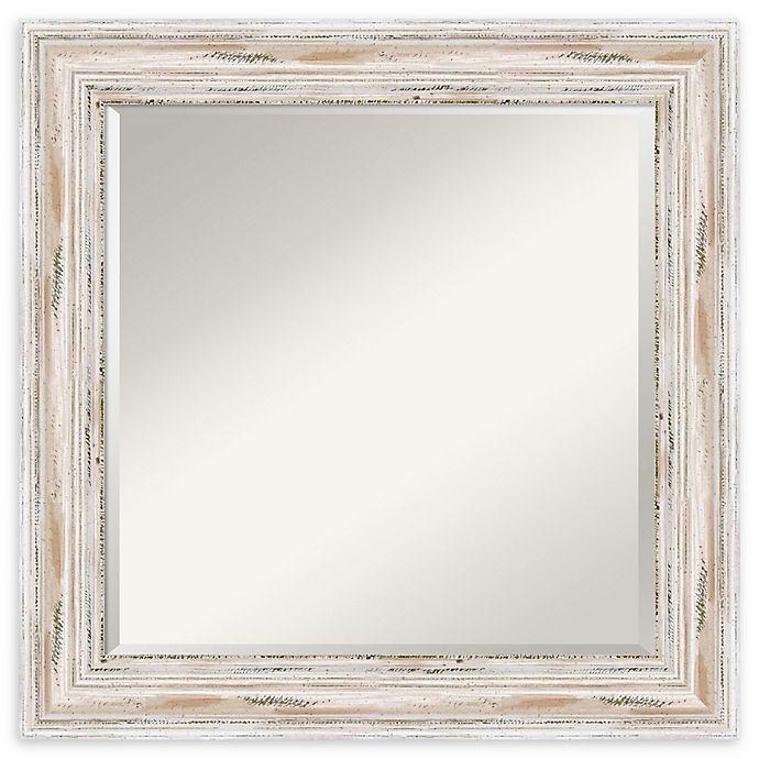 Alternate image 1 for Amanti Art Alexandria White Wash 25-Inch Square Bathroom Vanity Mirror