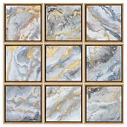 Renwil Marcil 12-Inch Square Alternative Wood Wall Art (Set of 9)